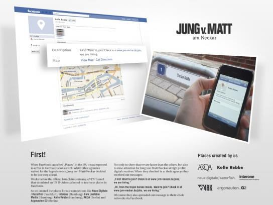 Jung von Matt Digital Ad -  Facebook places