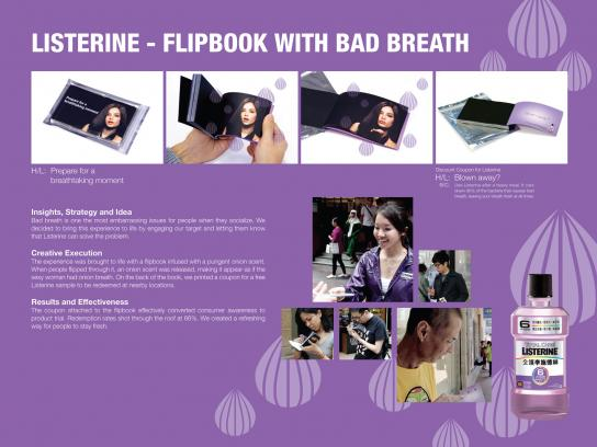 Listerine Direct Ad -  Flipbook with Bad Breath
