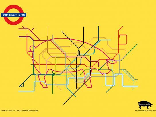 Kennedy+Castro Print Ad -  Metro map