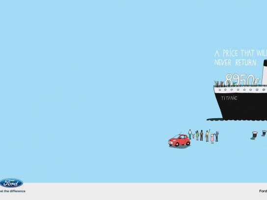 Ford Print Ad -  Titanic
