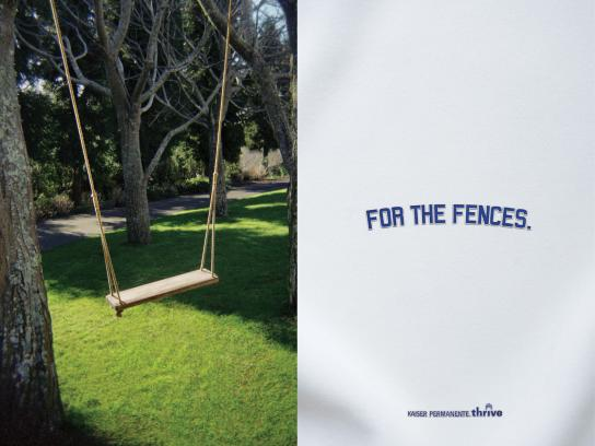 Kaiser Permanente Print Ad -  Dodger Program, Swing