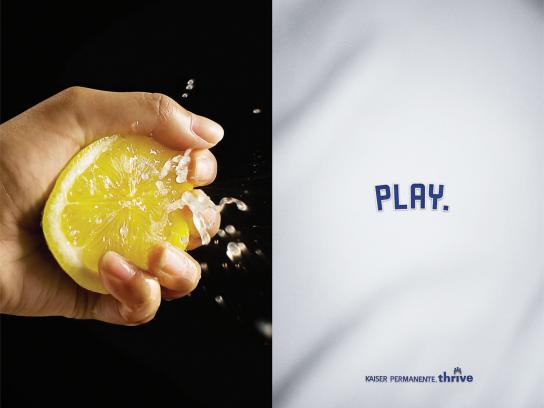 Kaiser Permanente Print Ad -  Dodger Program, Lemon
