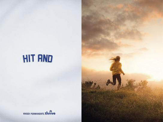 Kaiser Permanente Print Ad -  Dodger Program, Runner