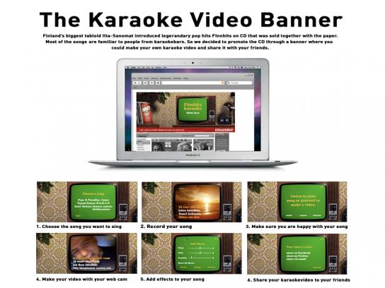 Ilta-Sanomat Digital Ad -  The Karaoke Video Banner