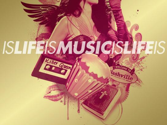 The Recording Academy Outdoor Ad -  Music is Life is Music, Katy Perry
