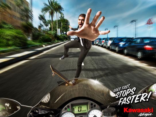 Kawasaki Print Ad -  Skater