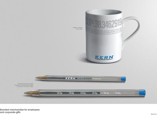 Kern Precision Scales Direct Ad -  Cup and pen