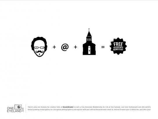 One Eyeland Print Ad -  The Formula, Kessels Kramer