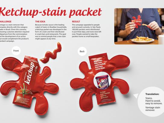 Vantage Direct Ad -  Ketchup Stain Packet