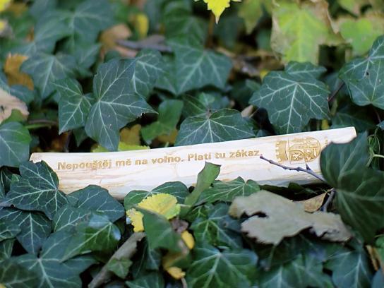 Prague Municipal Authority Ambient Ad -  Dog sticks