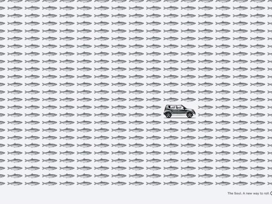 KIA Print Ad -  Fish