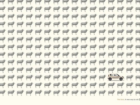 KIA Print Ad -  Sheep