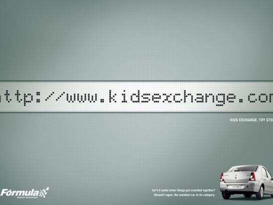 Renault Print Ad -  Internal Space, Kids Exchange