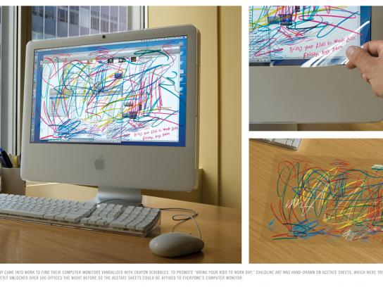 BBDO Ambient Ad -  Monitors