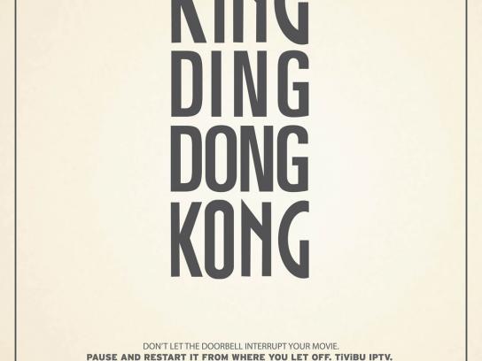 Tivibu Print Ad -  King Kong