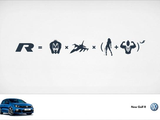 Volkswagen Print Ad -  Kiss + Mr T