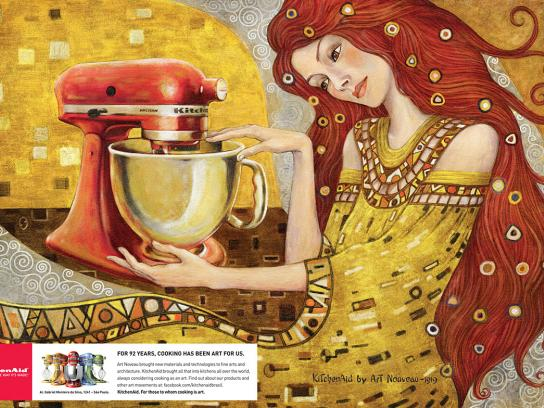 Whirlpool Print Ad -  Art Nouveau