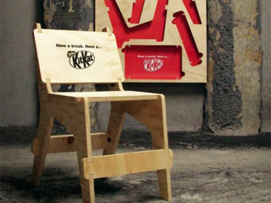 Kit Kat Ambient Ad -  Chair posters