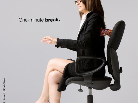 Kit Kat Print Ad -  One-minute break, 2