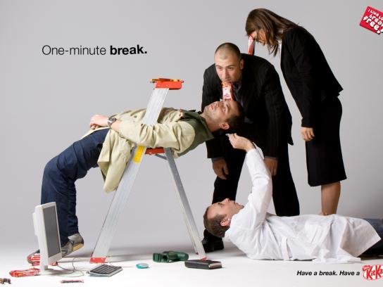 Kit Kat Print Ad -  One-minute break, 3