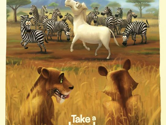 Kit Kat Outdoor Ad -  Take a break from the usual, Zebra