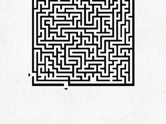 Kit Kat Print Ad -  Maze