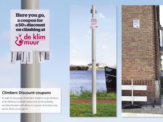 Klimmuur Centraal Outdoor Ad -  Climbers discount coupons