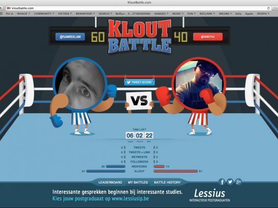 Lessius School Digital Ad -  #kloutbattle