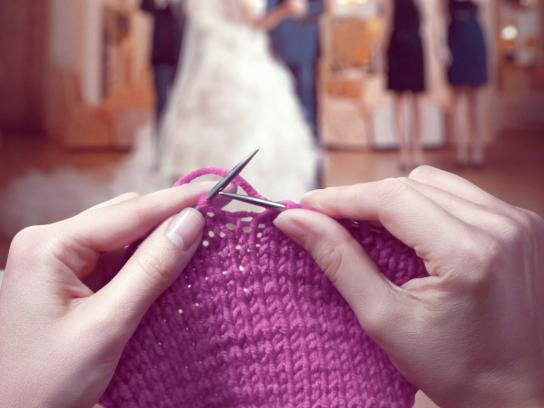 Las Vegas Wedding Agency Print Ad -  Knitting