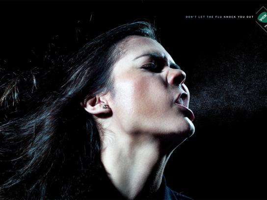 Vick Print Ad -  Knockout, Girl