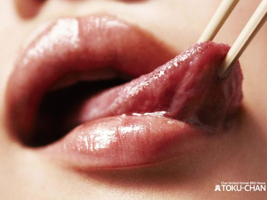 Toku-Chan Korean BBQ House Print Ad -  Tongue