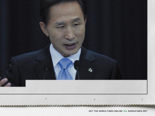 The Korea Times Print Ad -  President