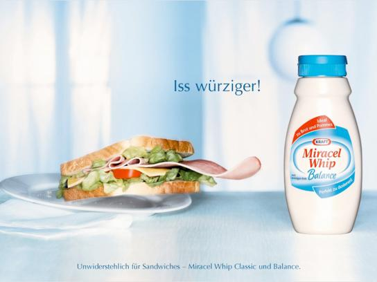 Miracel Whip Print Ad -  Sandwich