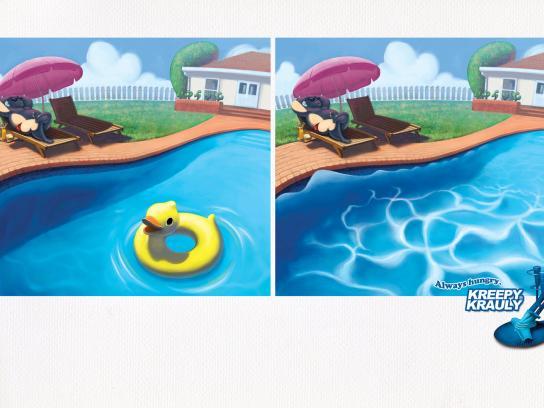 Kreepy Krauly Print Ad -  Duckie