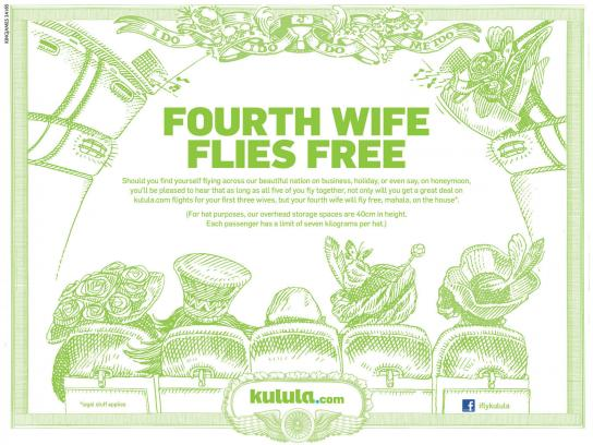 Kulula Print Ad -  Fourth Wife