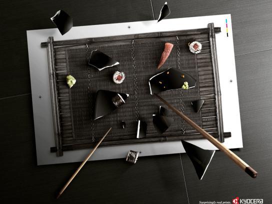 Kyocera Print Ad -  Sushi