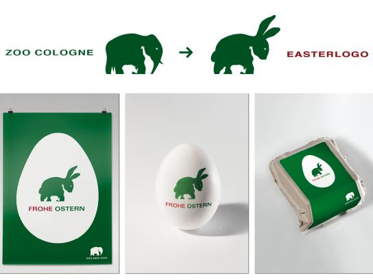 Zoo Cologne Direct Ad -  The easter logo