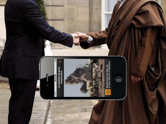La Republica Print Ad -  Gadafi