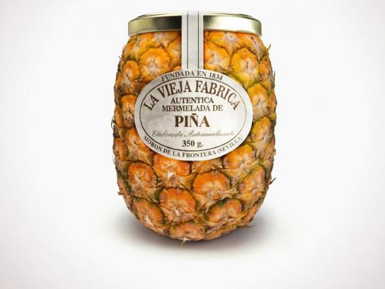 Jam La Vieja Fabrica Print Ad -  Pineapple