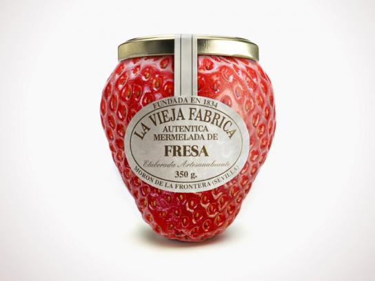 Jam La Vieja Fabrica Print Ad -  Strawberry
