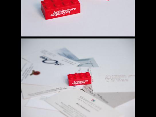 La Cambre Architecture Ambient Ad -  Business card