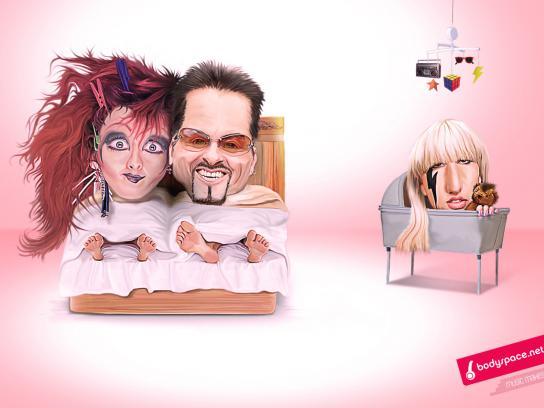 Bodyspace Print Ad -  Lady Gaga