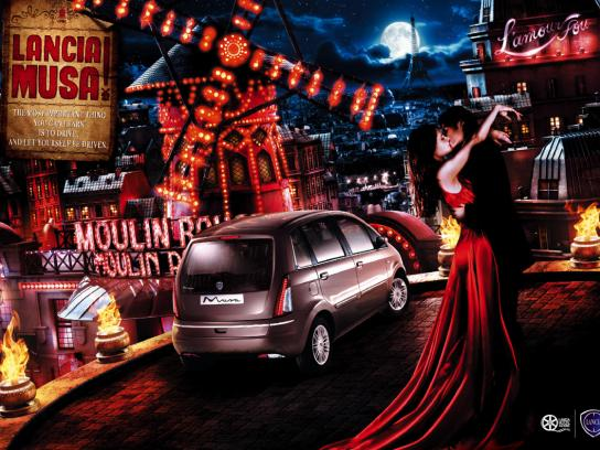 Lancia Print Ad -  Cinema