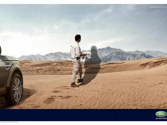 Land Rover Print Ad -  Desert