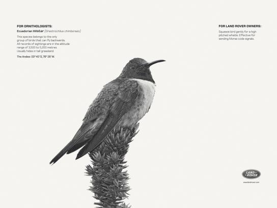 Land Rover Print Ad -  Ecuadorian Hillstar