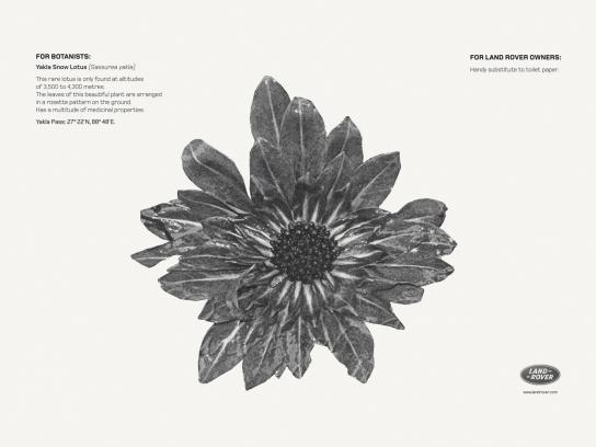Land Rover Print Ad -  Yakla Snow Lotus