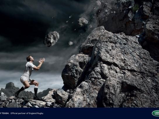 Land Rover Print Ad -  Rocks