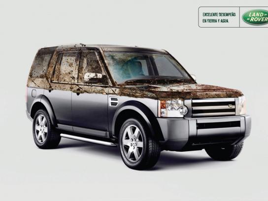 Land Rover Print Ad -  Amphibious