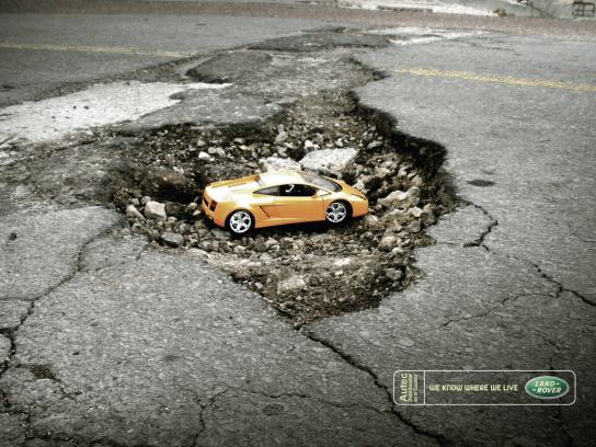 Land Rover Print Ad -  We know where we live, 1