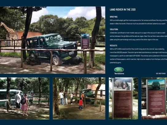 Land Rover Outdoor Ad -  Zoo
